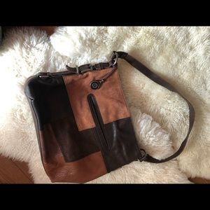 The sak boho chic leather bag shoulder bag patch
